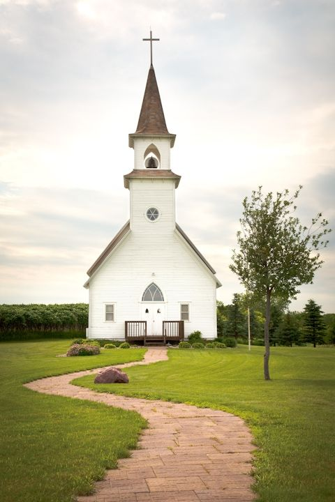 """Country church. Do you hear them singing """"He walks with me, and he talks with me and he tells me I am his own."""" ?"""