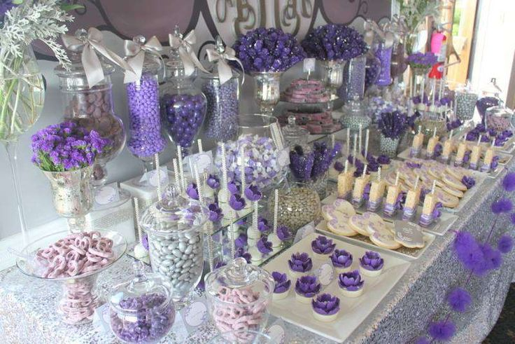 Purple & Gray Glam Wedding Party Ideas   Photo 19 of 20   Catch My Party