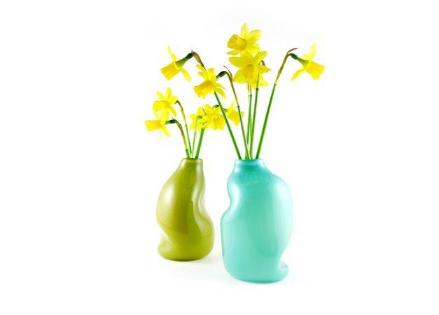 gum vase - olive, blue