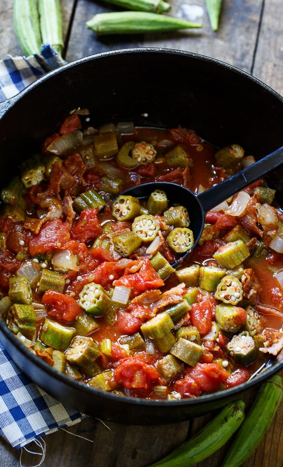 Stewed Okra and Tomatoes- a southern favorite!
