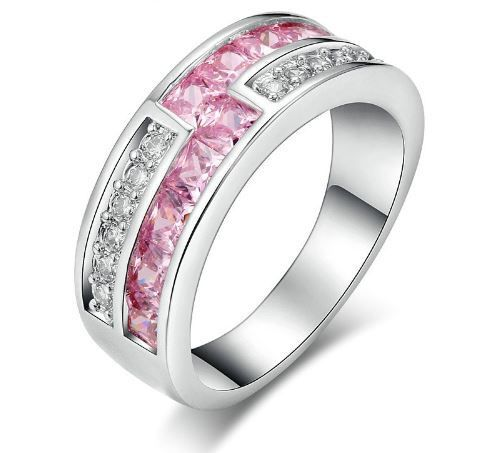 Pink Austrian Crystal #ring #pink #austrian #crystal #diamond #jewelry #sexy #cute