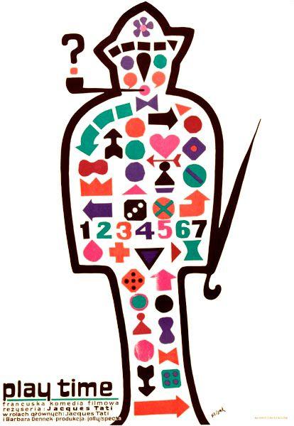 Playtime * Jacques Tati #film #poster by Jerzy Flisak 1971