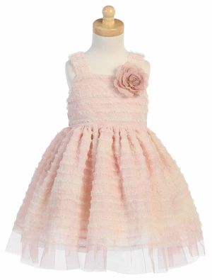 Peach Tie Dye Ruffled Tulle Dress- Perfect for my little flower girl :) Need this in white!