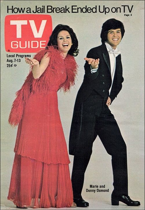 Donny and Marie Osmond on the cover of TV Guide, August 1976.