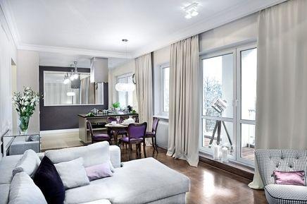 Nowoczesne mieszkanie - salon, jadalnia, otwarta kuchnia