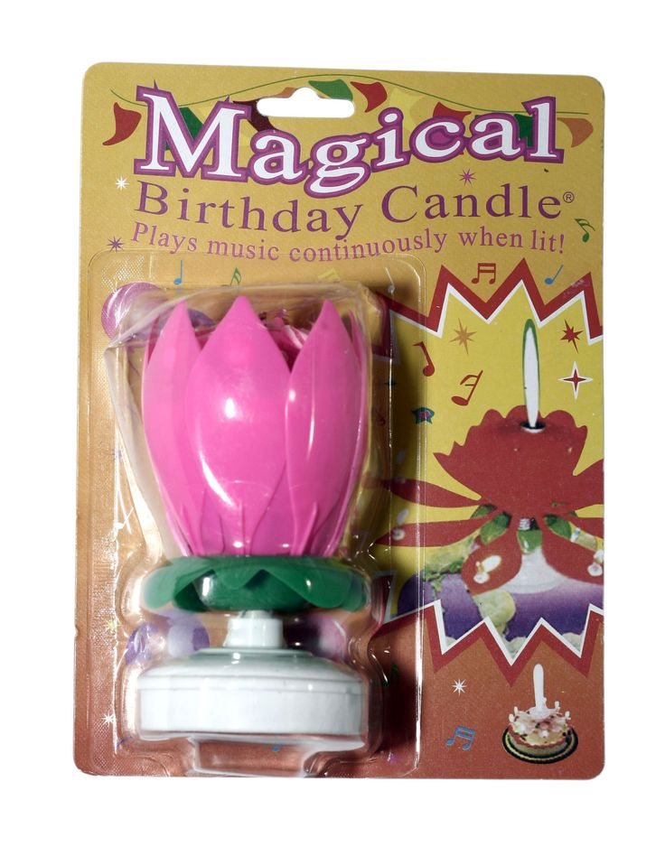 Amazon.com - The Amazing Happy Birthday Candle(colors vary) - Flower Musical Birthday Candle