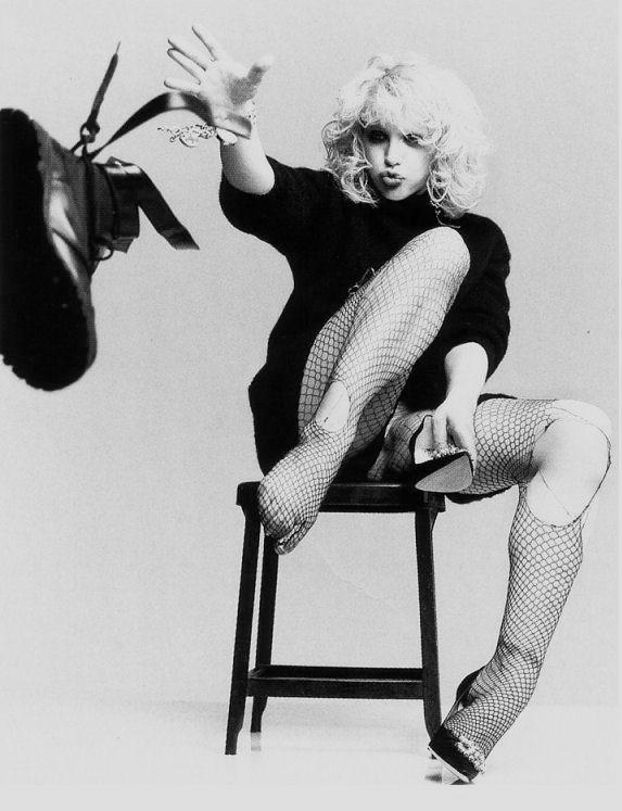 Courtney Love - what a hot mess but I still find something intriguing about her.