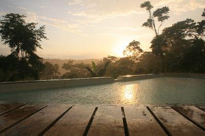 Natural Rainwater Swimming Pool. Hamadryade Eco Lodge, Ecuador