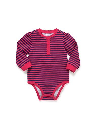Mix Apparel Stripe Picot Bodysuit
