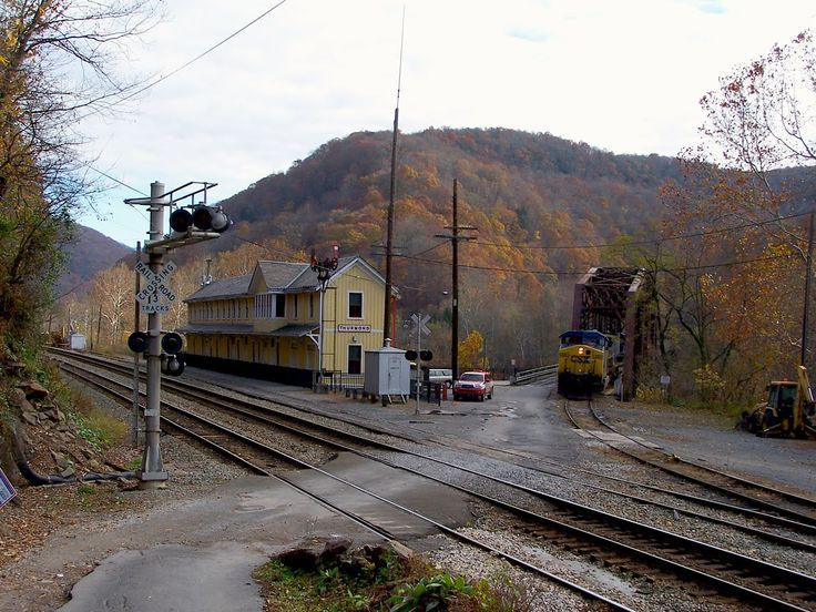 Railroad West Virginia Coal Train Coming Off The Former