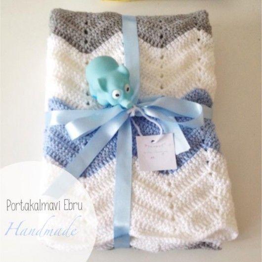 Erkek bebek battaniyesi