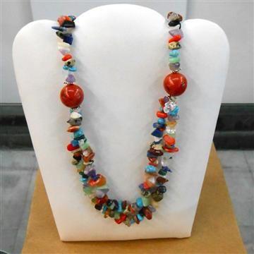 Collar Doble mix de piedras - Petrarca Joyas