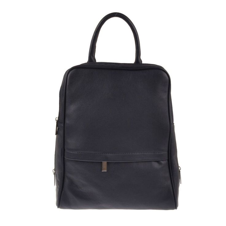 Pellevera borsa in pelle con spalline zaino italian leather backpack Italy