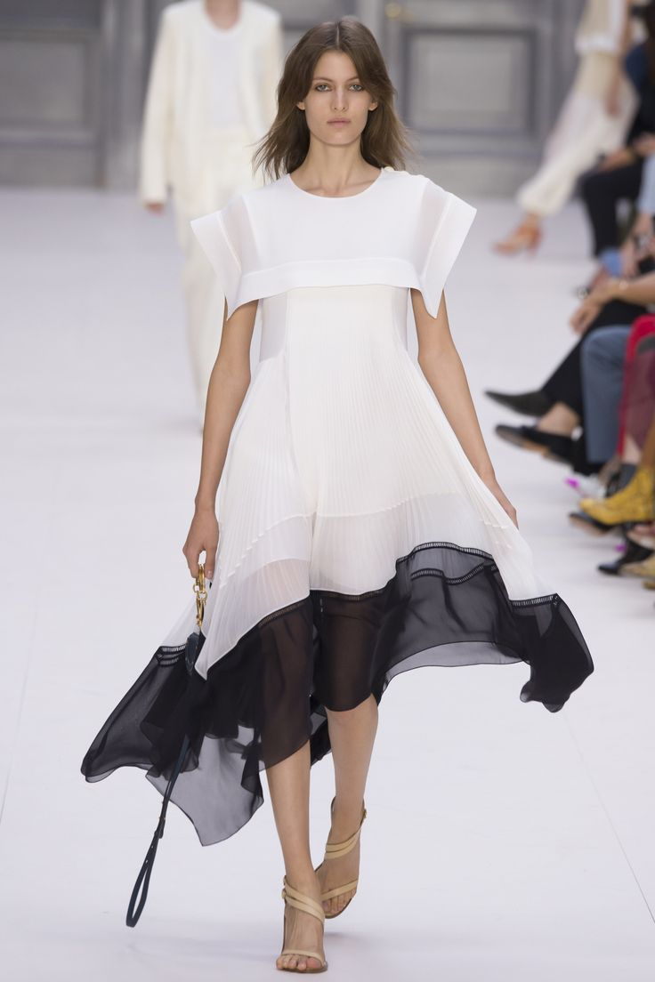"""The Chloé #PFW collection captured """"the effortless simplicity of French style."""""""