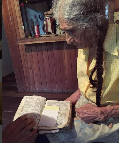 96 year old Celda is studying the Bible