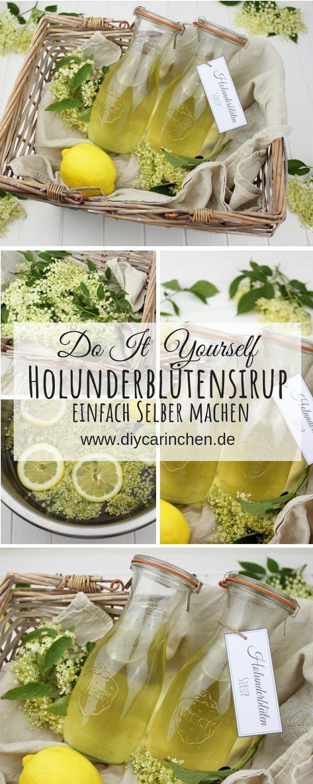 Rezept – Holunderblütensirup selber machen – so schnell und einfach geht es – DIYCarinchen – DIY Ideen: Basteln, Geschenke, Deko, und Wohnen