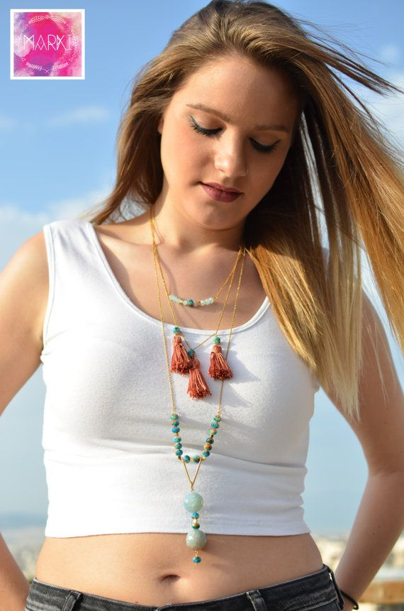 Hey, I found this really awesome Etsy listing at https://www.etsy.com/listing/257185763/layering-necklaces-agate-necklace-tassel