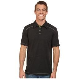 Garrick Polo, Phantom, L : This super soft polo is great for all-day wear and features a fold collar and contrasting stitching for extra style!