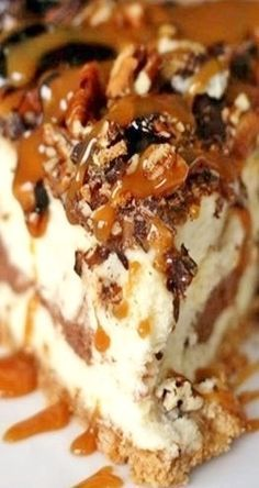 Ultimate Turtle Cheesecake Recipe ~ amazing, impressive, decadent dessert!