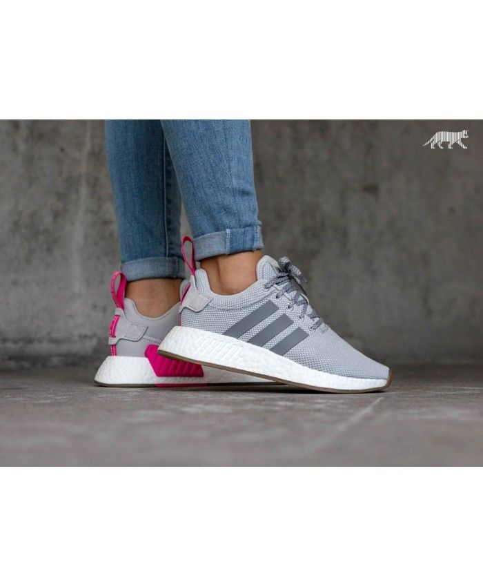 f26994eb753c8 Adidas Australia Nmd R2 W Grey Two Grey Three Shock Pink Trainers ...