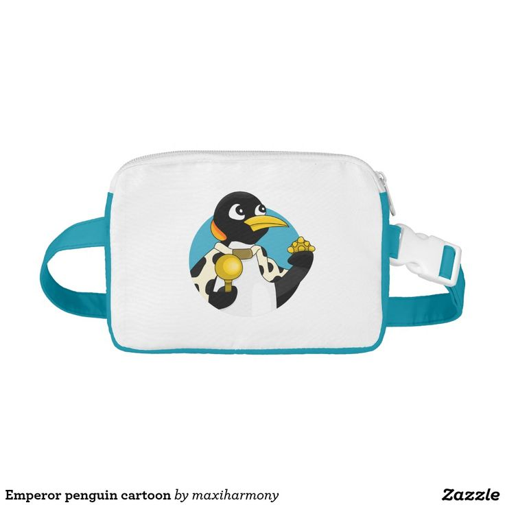 Emperor penguin cartoon nylon fanny pack