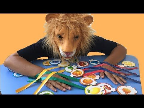 Funny Lion Pranked ! Learn Colors with Sticky Tape , Finger Family Nursery Rhymes - YouTube