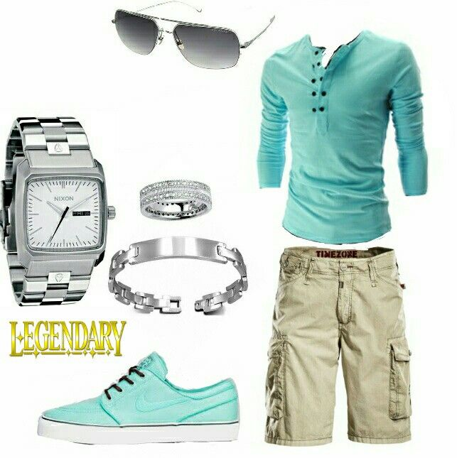 Men's fashion casual summer shorts outfit