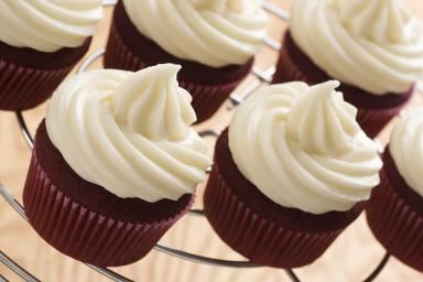 White Frosting Red Velvet Cupcakes - viennetta/E+/Getty Images