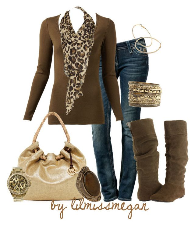 """""""Brown & Leopard"""" by lilmissmegan ❤ liked on Polyvore featuring Rock Revival, Witchery, Gathering Eye, Gabriella Rocha, MICHAEL Michael Kors, Fantasy Jewelry Box, Charlotte Russe, Forever 21 and Wet Seal"""