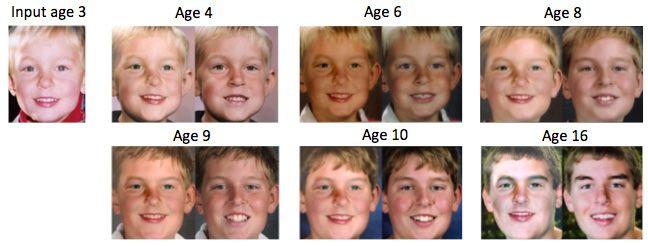 facial recognition age progression - Google Search