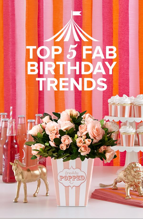 Paint toy animals gold for a chic and stylish circus-themed birthday party. Check out other trendy party ideas!