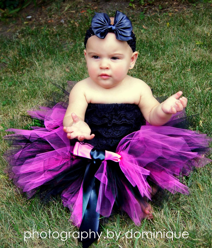 items similar to hot pink and black baby tutu only birthday punk rock skirt or halloween costume infant sizes up to 24 months pink licorice on etsy