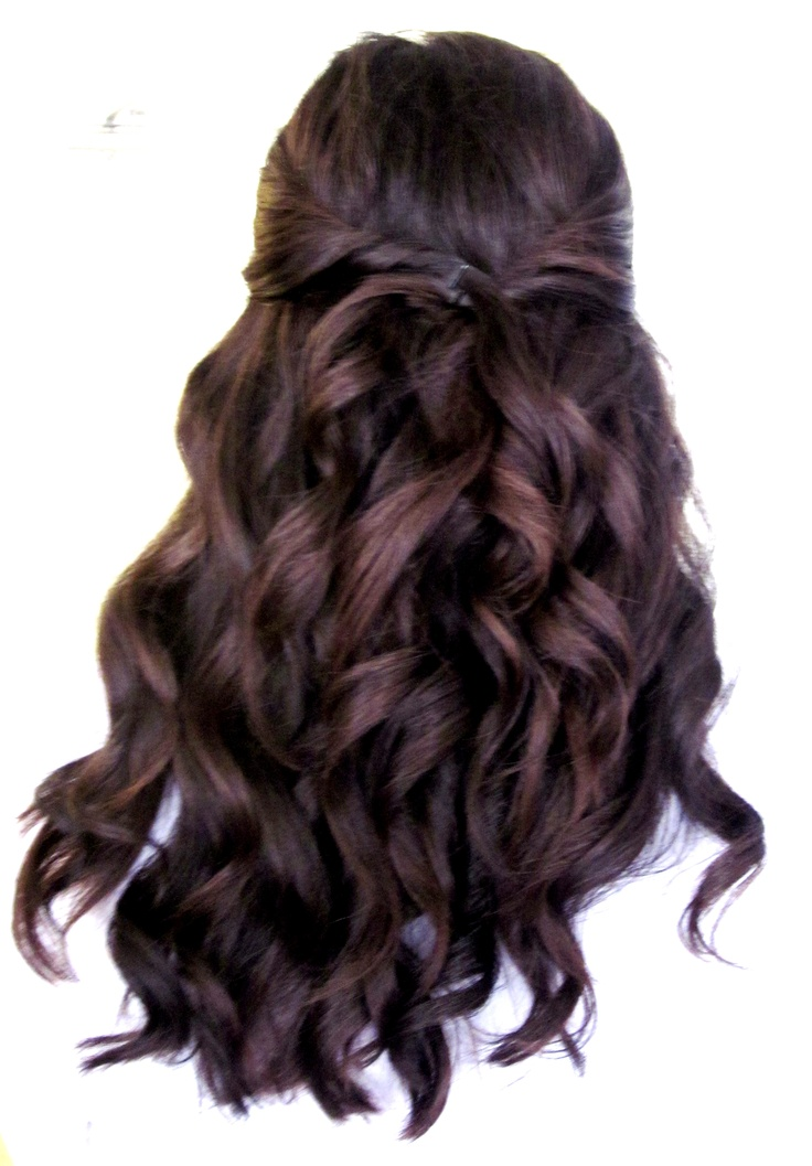 Loose Curls A Few Pinned Back Hair Pinterest