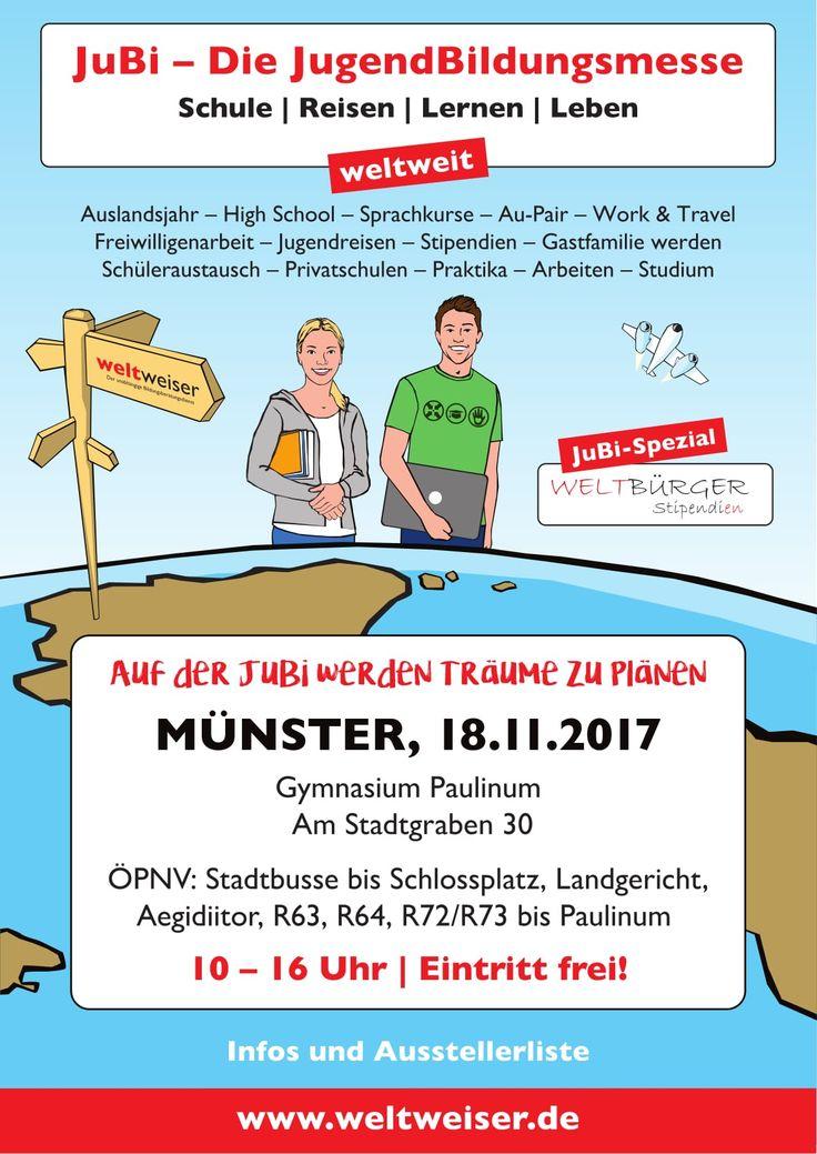 JuBi Münster am 18.11.2017 #reisen #weltreise #auslandsjahr #sprachreise #praktikum #bildung #schule #jugendreisen #weltenbummler #auslandsaufenthalt