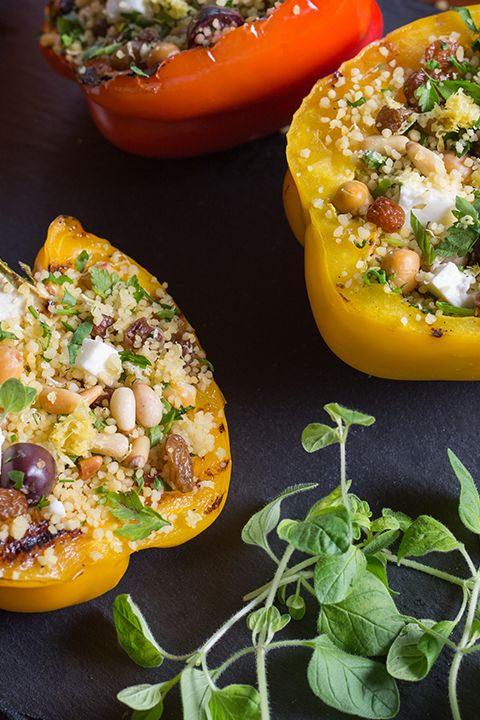 INGREDIENTS BY SAPUTO | Looking for tasty summer grilling ideas? Add variety to your menu this week with this easy recipe for stuffed bell peppers on the BBQ. Made with couscous, olives, chickpeas and Saputo Feta cheese, they're sure to be an instant hit!
