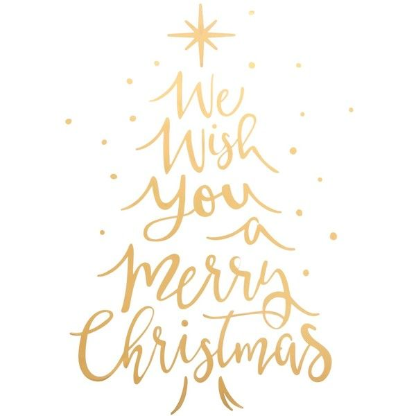 Holiday Lane We Wish You A Merry Christmas Gold Tone Typography Wall 14 Liked On Polyvore Featurin Gold Christmas Christmas Decals Christmas Wall Decal