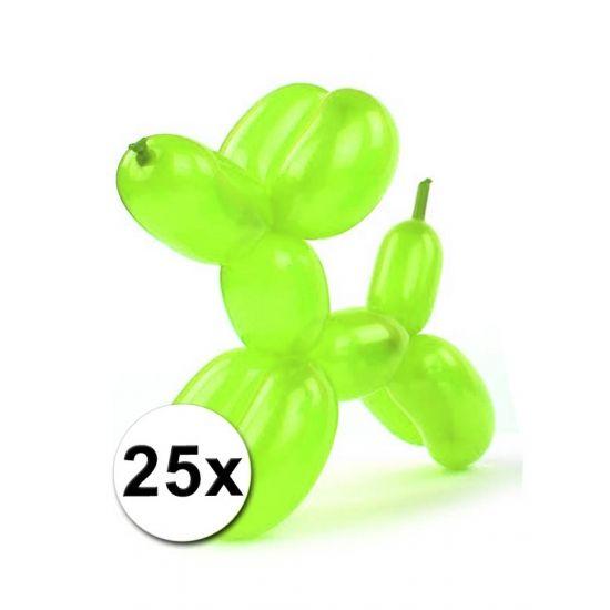 Foliezakje met daarin 25 modelleerballonnen in neon kleuren. Een zakje bevat diverse neon kleurige ballonnen. De ballonnen kunt u gebruiken om bijvoorbeeld ballondieren mee te maken. De ballonnen zijn volledig opgeblazen ca. 120 cm lang.