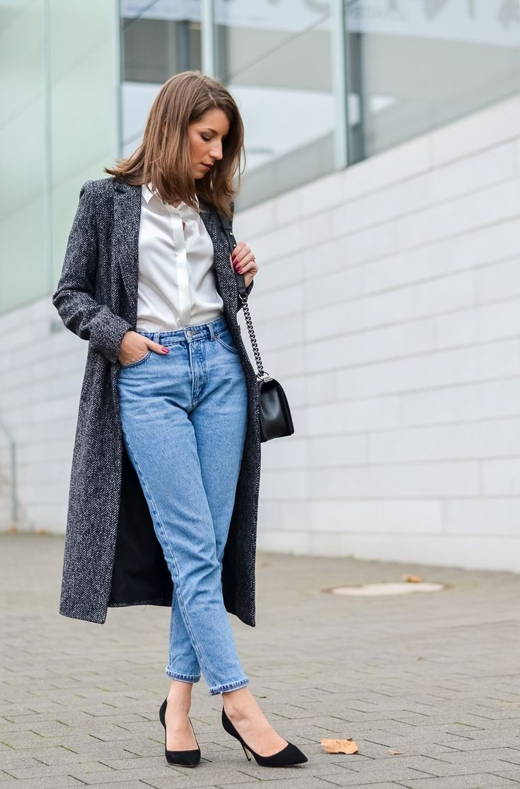 mom jeans maxi coat zara outfit