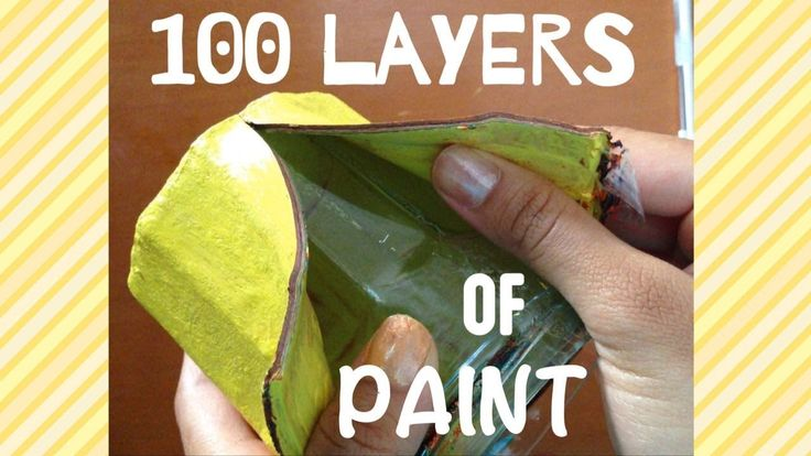 100 Layers of Paint Jar + Peel Off!!!