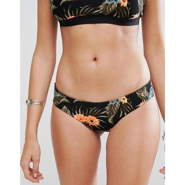 Rip Curl Reversible Rose Print Mirage Surf Bikini Bottom (£35) ❤ liked on Polyvore featuring swimwear, bikinis, bikini bottoms, multi, beach bikini, j.crew bikini, reversible bikinis, bottom bikini and bikini bottom swimwear