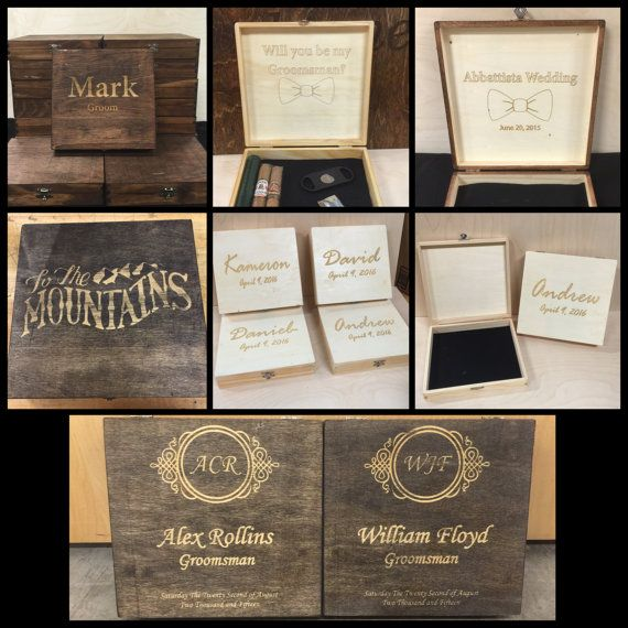 This listing is for a Custom Rustic Wood Cigar Box with Personalization! You can buy as many as you need. These boxes make wonderful gifts for your bridal party, Best Man, Groomsman, Ushers, Officiant, Father of the Groom, or any gift occasion for birthday, valentines day, fathers day, graduation, Christmas and more! Box can be used to store any items such as cigars, cutters, lighters, mini alcohol bottles, socks, bow ties, jewelry, cash or more (please see measurements below of box size…
