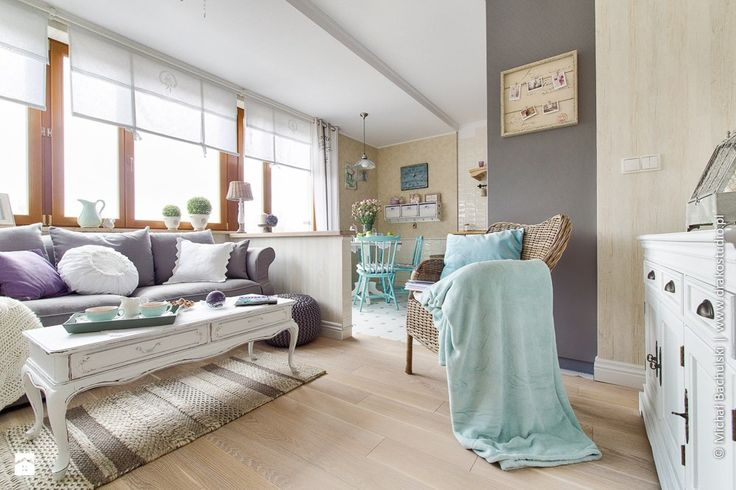 dąb szczotkowany;  Salon - zdjęcie od DreamHouse - Salon - DreamHouse