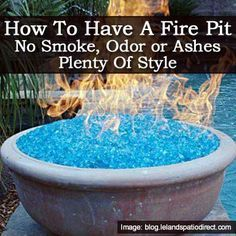 Stylish Fire Pit ~~~ How To Have A Fire Pit: No Smoke, Odor or Ashes And Plenty Of Style