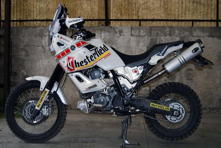 Now this is what i call an adventure bike. Yamaha XT660...wish they'd import this.