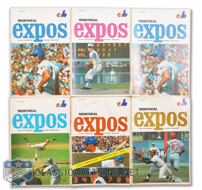 montreal expos game programs 1970's   Montreal Expos 1969-1972 Program Collection of 21
