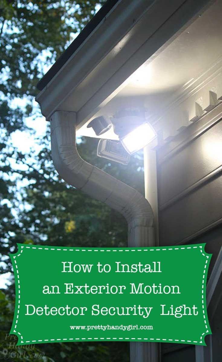 How To Install An Exterior Motion Sensor Light Motion Sensor