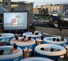 Hot tub cinema, London, England