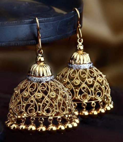 indian wedding bridal jhumka jhumki earrings gold