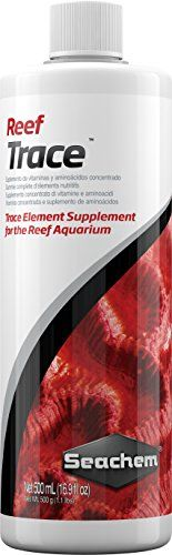 Reef Trace™ supplies a broad range of trace elements demonstrated to be necessary for proper reef health and growth. Trace elements are normally depleted by utilization oxidation and precipitation....