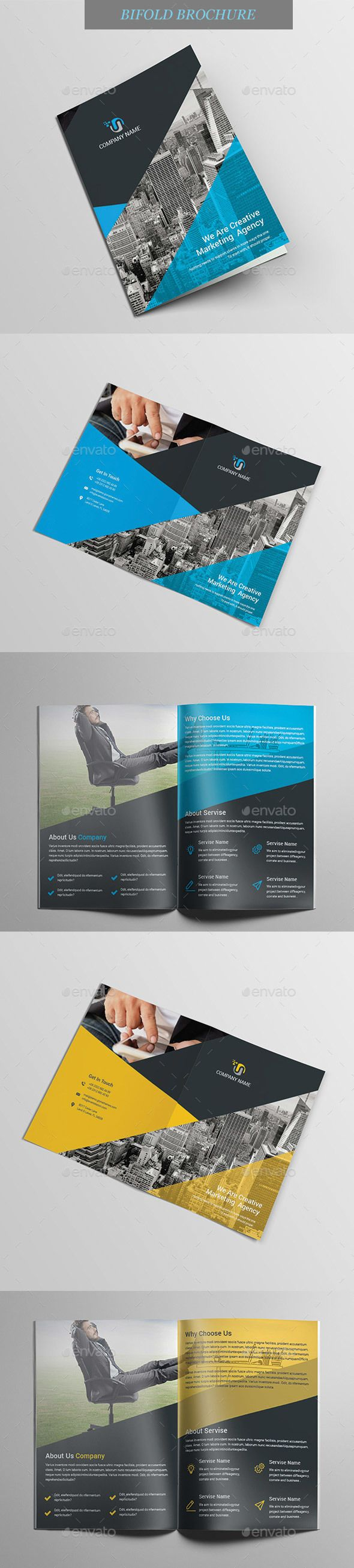 #Bi-Fold #Brochure - Brochures Print Templates Download here: https://graphicriver.net/item/bifold-brochure/20288507?ref=alena994